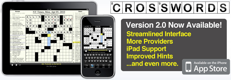 Crosswords for iPhone/iPad - v.2.0 Now Available!
