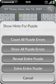 Crosswords for webOS